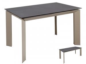 Masa dining extensibila din metal si sticla 120(170)x80 cm Staab Gray Santiago Pons