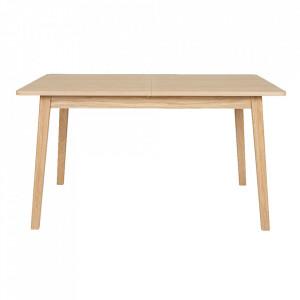 Masa dining extensibila maro din PAL si lemn 90x(140)180 cm Skagen Woodman