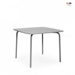 Masa dining gri din placi laminate si otel 90x90 cm My Table Normann Copenhagen