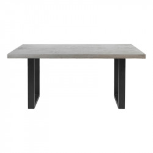Masa dining gri/neagra din beton si fier pentru exterior 90x160 cm Alana Cozy Living Copenhagen