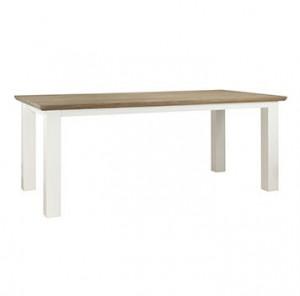 Masa dining maro/alba din MDF si lemn 90x160 cm Cardiff Table Mini Richmond Interiors