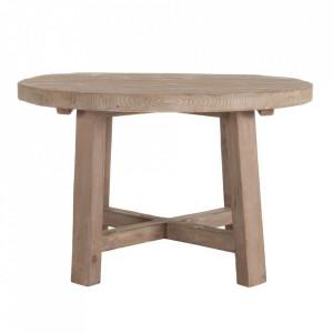 Masa dining maro din lemn de pin 120 cm Intaka Denzzo