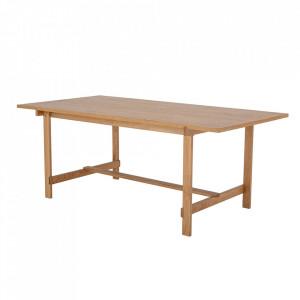 Masa dining maro din lemn de stejar 95x200 cm Nelson Bloomingville