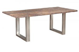 Masa dining maro din lemn si otel 90x140 cm Railwood Giner y Colomer