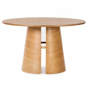 Masa dining maro din lemn si placaj 137 cm Cep Teulat