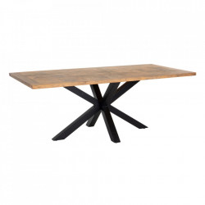 Masa dining maro/neagra din lemn de mango 100x200 cm Vazia Ixia