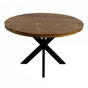 Masa dining maro/neagra din lemn de mango si fier 150 cm Round Ali HSM Collection