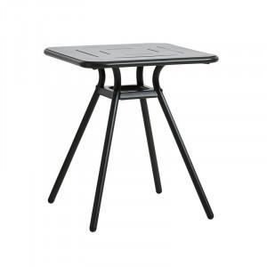Masa dining pentru exterior neagra din aluminiu 65x65 cm Ray Woud