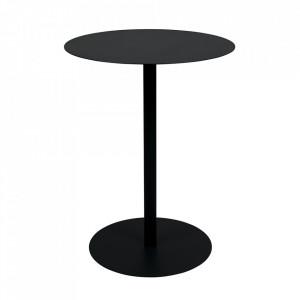 Masa neagra din otel 57 cm Bistro Zuiver