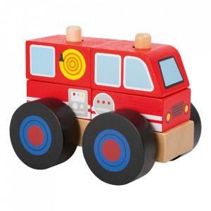 Masina de jucarie 5 piese din lemn Fire Engine Small Foot