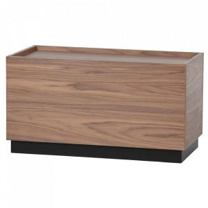 Masuta cafea maro din lemn de pin 40x82 cm Block Woood