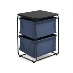 Masuta cu 2 sertare din panza albastra Specter Kave Home