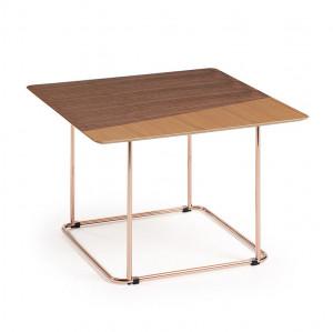 Masuta din metal si lemn pentru cafea 60x60 cm Aitana Kave Home