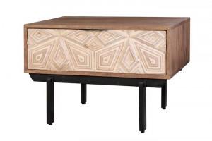 Masuta maro/crem din lemn de mango 42x63 cm Luxuri Giner y Colomer