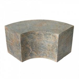 Masuta maro din beton 38x85 cm pentru cafea Slay Element Curved Versmissen