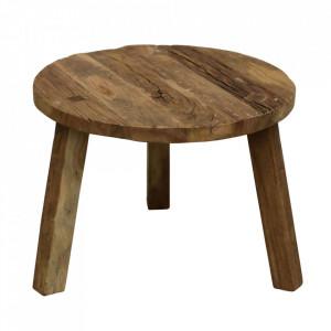 Masuta maro din lemn pentru cafea 60 cm Farmwood Raw Materials