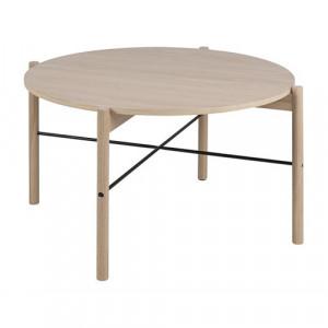 Masuta maro/neagra din lemn si metal 80 cm Leka Actona Company