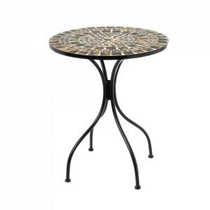Masuta multicolora din ceramica si metal pentru exterior 60 cm Terra Table Single Unimasa