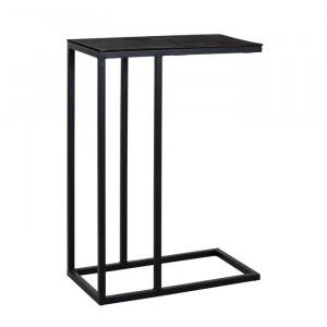Masuta neagra din aluminiu si fier 35x55 cm Bolder Richmond Interiors