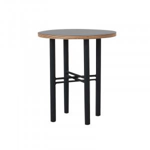 Masuta neagra din placaj si metal pentru cafea 40 cm Pento Custom Form