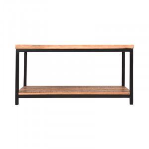 Masuta neagra/maro din lemn si metal pentru cafea 60x90 cm Avi Vintage LABEL51