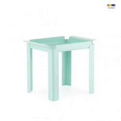 Masuta turcoaz din otel 33x48 cm Box Table Normann Copenhagen