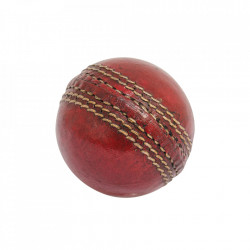 Minge decorativa rosie din piele 7 cm Cricket Ball Versmissen