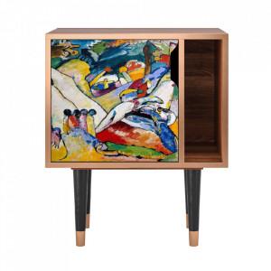 Noptiera multicolora din MDF si lemn Improvisation 26 By Wassily Kandinsky Furny
