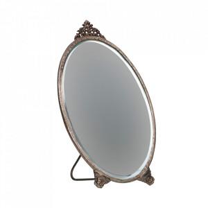 Oglinda argintie din metal de masa 15,5x26 cm Posh Be Pure Home
