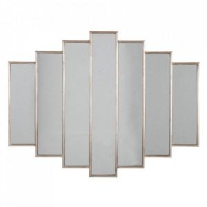 Oglinda aurie din poliuretan si sticla 80x100 cm Enveja Ixia