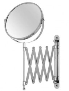 Oglinda cosmetica argintie pentru perete din metal 18,5x35 cm Avi Unimasa