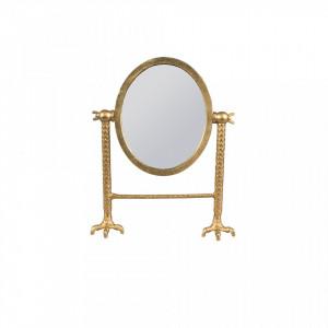 Oglinda cosmetica din alama Falcon Dutchbone