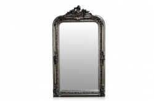 Oglinda dreptunghiulara argintie cu rama din lemn 90x160 cm Baroque Versmissen