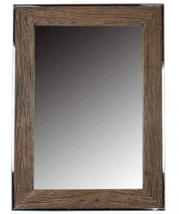 Oglinda dreptunghiulara maro/argintie din lemn 85x115 cm Kensington Richmond Interiors