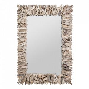 Oglinda dreptunghiulara maro din lemn 70x102 cm Varverg Vical Home
