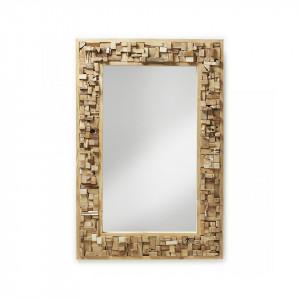 Oglinda dreptunghiulara maro din lemn 80x120 cm Yalana La Forma