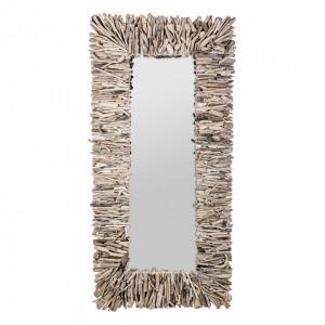 Oglinda dreptunghiulara maro din lemn 90x180 cm Varverg Vical Home