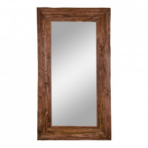 Oglinda dreptunghiulara maro din lemn de tec 101x180 cm Granada House Nordic