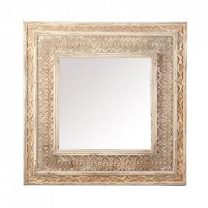 Oglinda dreptunghiulara maro din lemn si MDF 93x95 cm Clutha Vical Home