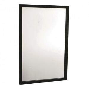 Oglinda dreptunghiulara neagra din lemn de stejar 60x90 cm Confetti Rowico Home