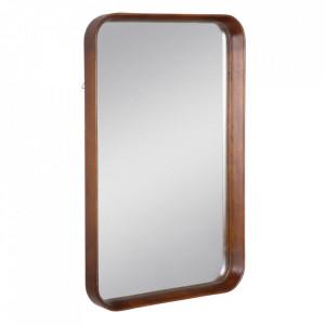 Oglinda maro din lemn de fag si sticla 50x80 cm Evika Ixia