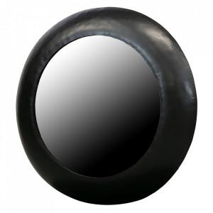 Oglinda neagra din fier 75 cm Wolf Woood