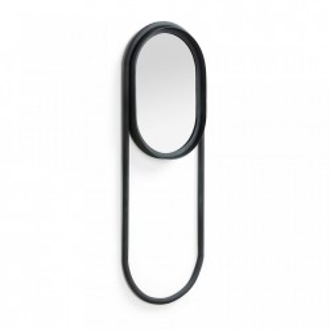 Oglinda ovala cu rama neagra 77,5 cm Klassy La Forma