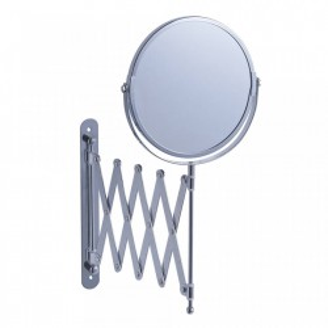 Oglinda rotunda argintie din metal 17 cm pentru perete Cosmetic Work Zeller