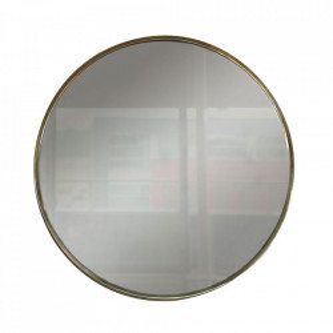 Oglinda rotunda aurie din sticla si metal 80 cm Anne Steinhauer