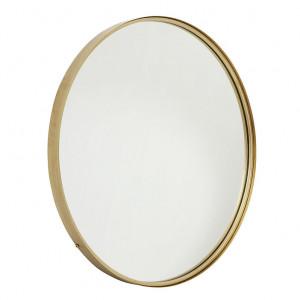 Oglinda rotunda din metal auriu 80 cm Round Nordal