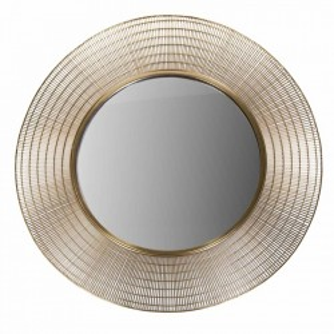 Oglinda rotunda din metal auriu 96 cm Mir Gold Zago