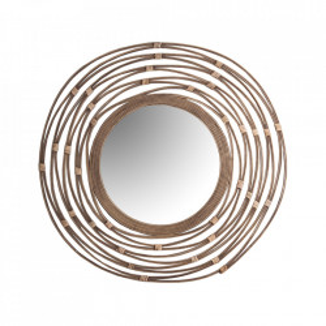 Oglinda rotunda maro din ratan 77 cm Martina Vical Home