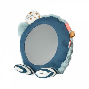 Oglinda rotunda multicolora din bumbac si poliester pentru copii 23 cm Blue Done by Deer