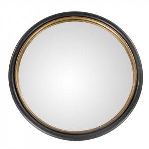 Oglinda rotunda neagra/aurie din metal 50 cm Mirroir Zago